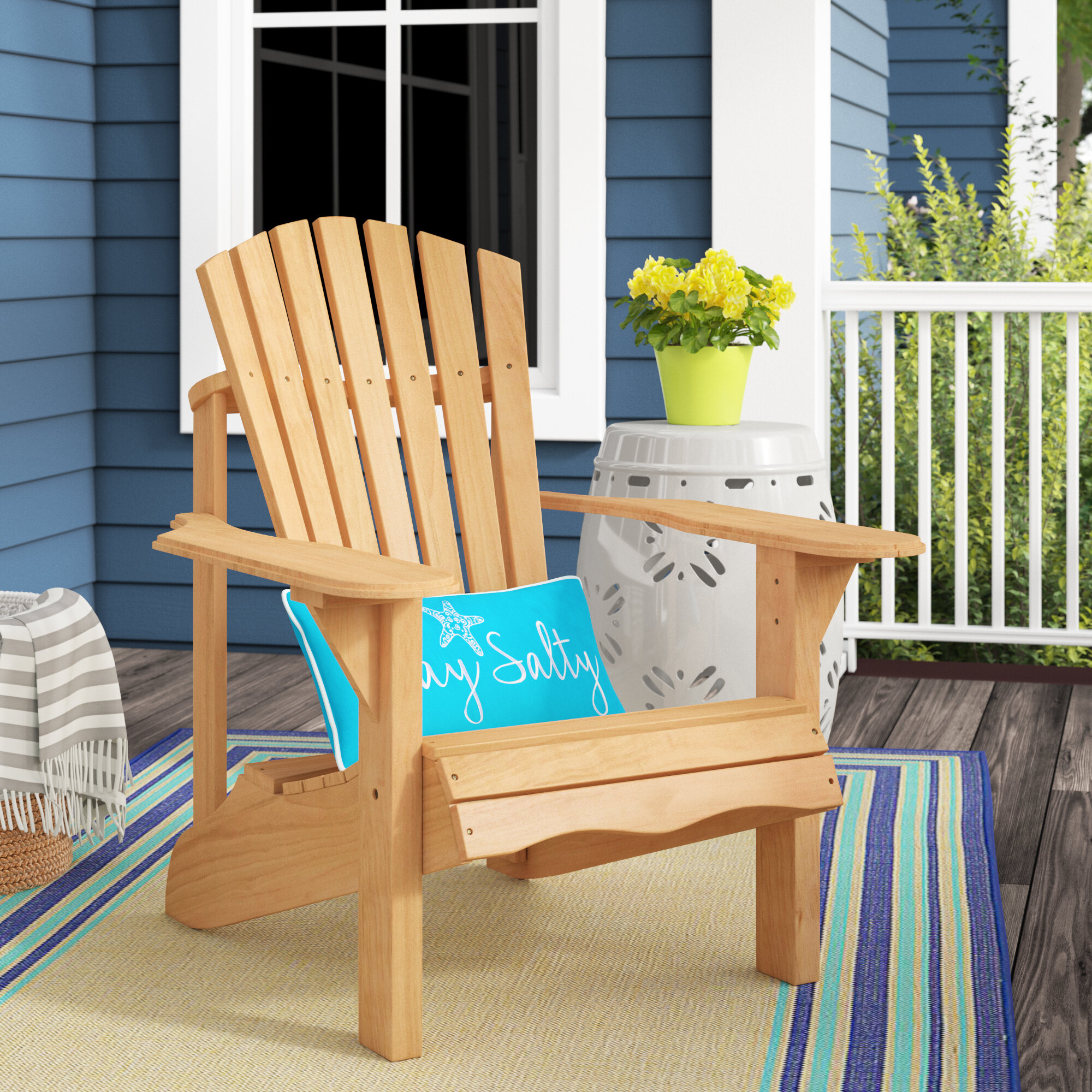 Highland Dunes Boothe Solid Wood Adirondack Chair U0026 Reviews ...