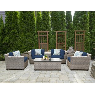 Find the perfect Romford 6 Piece Rattan Sofa Set with Cushions Purchase & reviews