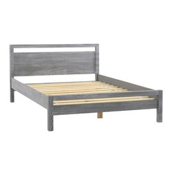 Queen Platform Bed Frames grain wood furniture loft queen platform bed & reviews | wayfair