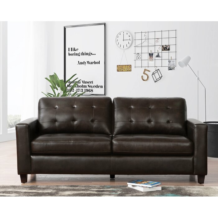 Incredible Dion Genuine Leather Sofa Interior Design Ideas Clesiryabchikinfo