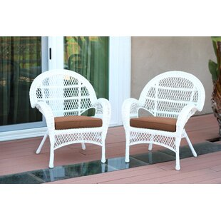 Incroyable Wicker Chair With Cushions (Set Of 2)