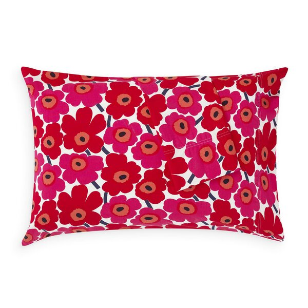 Pink with White Dots /& Flowers Pillowcase Single Standard Size Pillowcase