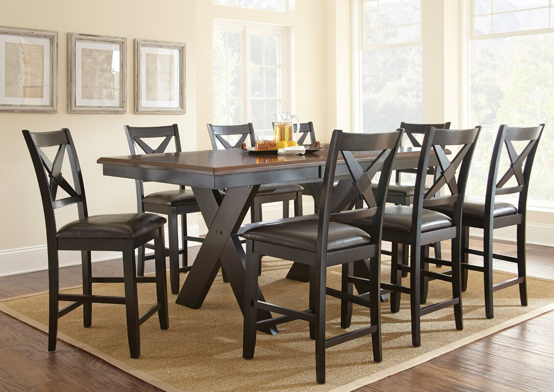 alcott hill amsterdam  piece counter height dining set  reviews  -   piece kitchen  dining room sets sku alct defaultname