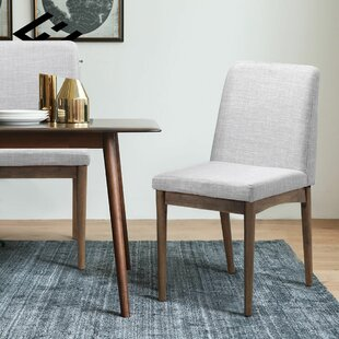 Eaves Upholstered Dining Chair (Set of 2) George Oliver