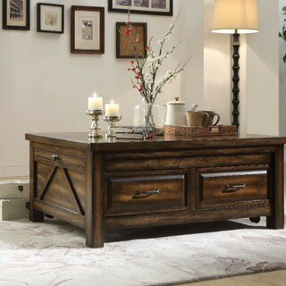 Almendarez Transitional Rectangular Wooden Extendable Coffee Table with Storage by Loon Peak SKU:CE258642 Description