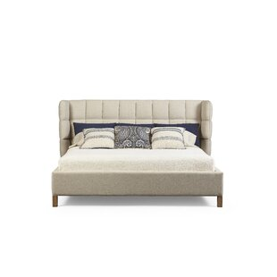 Yasmine Shelter Upholstered Wingback Headboard
