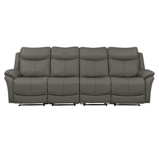 Jabari 4 Seat Wall Hugger Home Theater Sofa by Red Barrel Studio