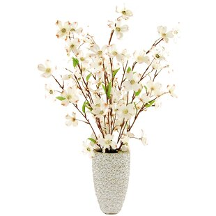 Dogwood Floral Arrangement in Decorative Vase