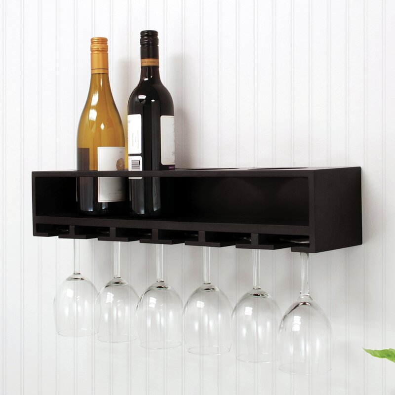 nexxt Design 4 Bottle Wall Mounted Wine Rack & Reviews | Wayfair