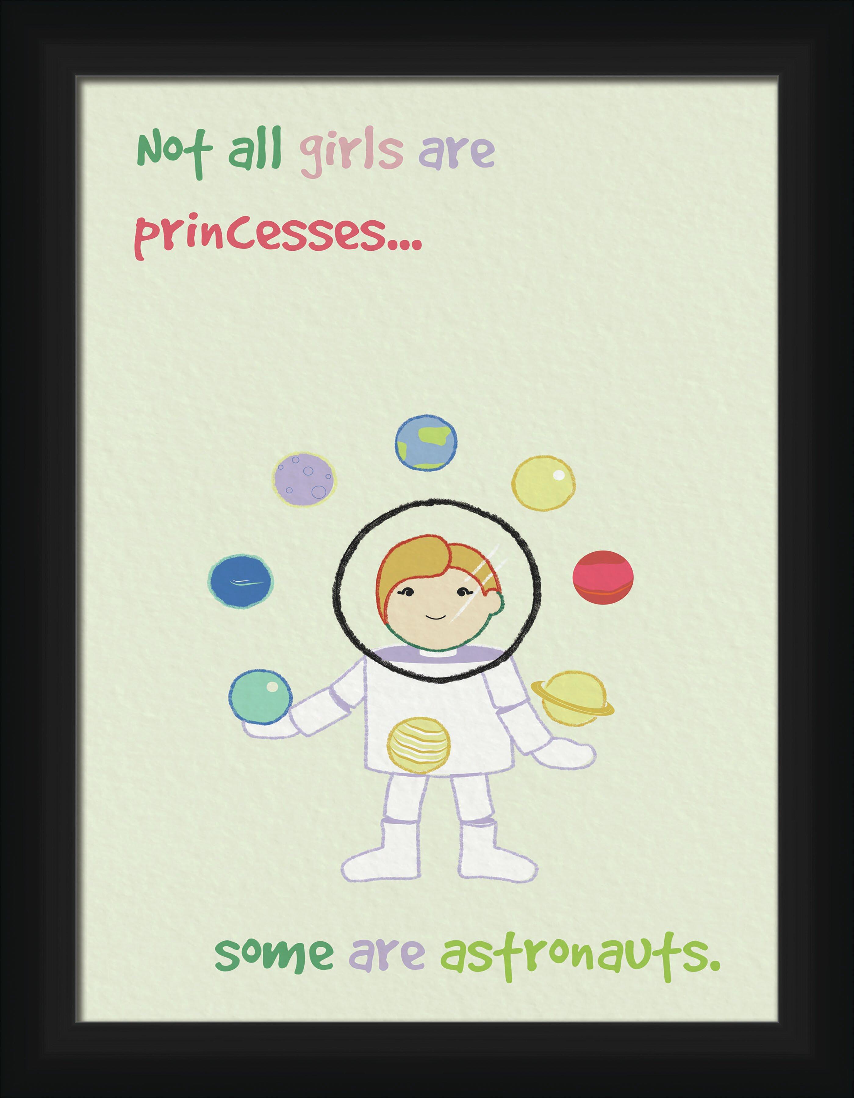 Isabelle Max Blevens Girls Are Princesses Framed Art Wayfair Ca