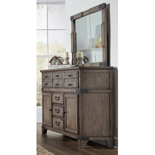 Britteny 6 Drawer Combo Dresser with Mirror