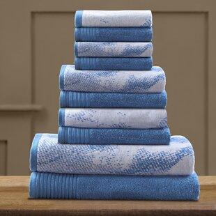 Pressman 10 Piece 100% Cotton Towel Set By Trent Austin Design