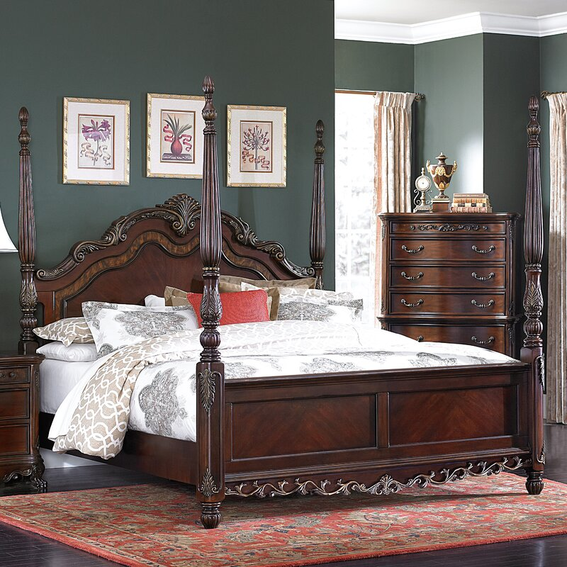 Astoria Grand Chalus Queen Four Poster Configurable Bedroom Set ...
