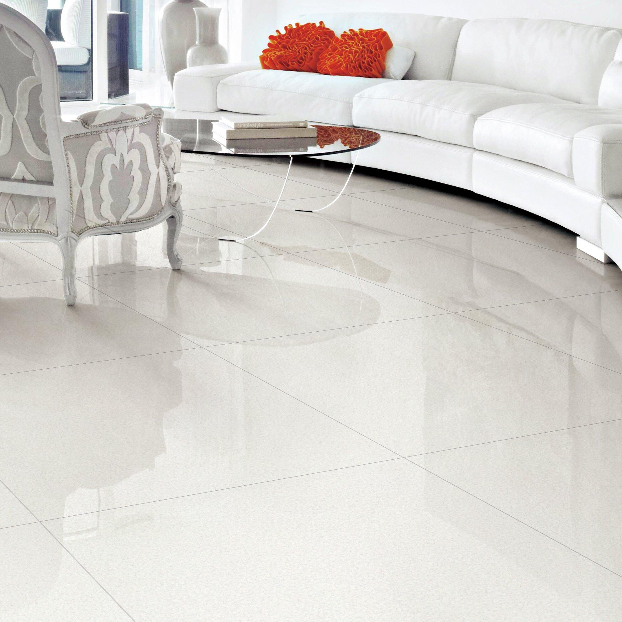 Multile Premium Micro Crystal 24 X Porcelain Field Tile In White Wayfair