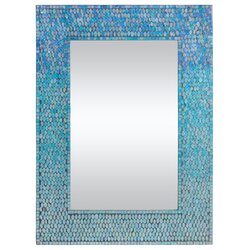 Turquoise Wall Mirror ren-wil catarina accent wall mirror & reviews | wayfair
