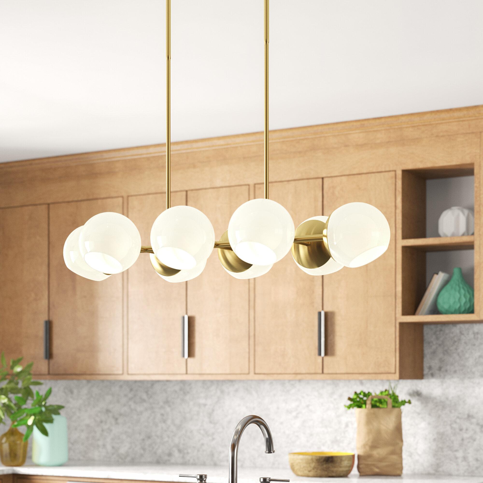 Ashley 8 Light Kitchen Island Linear Pendant