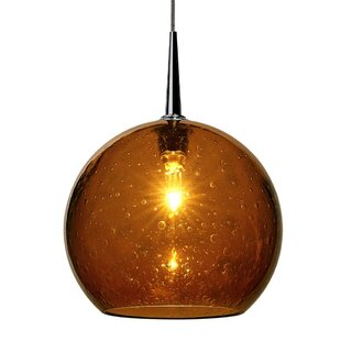 Reviews Carvalho 1-Light Globe Pendant By Alcott Hill
