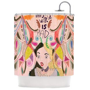 Alice in Wonderland Single Shower Curtain