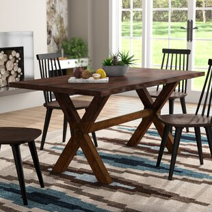 Tiggs Solid Wood Dining Table by Millwood Pines Cheap