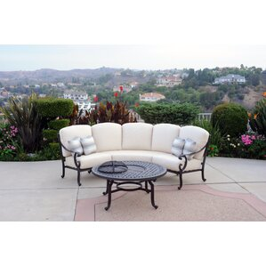 Milano 2 Piece Sectional Seating Group With Sunbrella Cushions