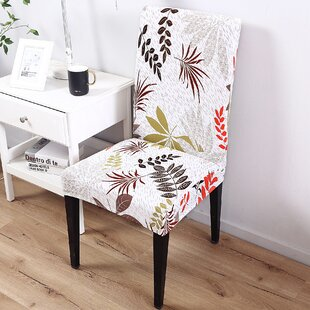 Leaf Elegant Box Cushion Dining Chair Slipcover by Bay Isle Home