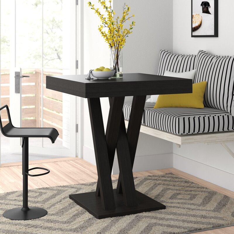 White Cane Outdoor Furniture, Zipcode Design Hodder Bar Height Dining Table Reviews Wayfair