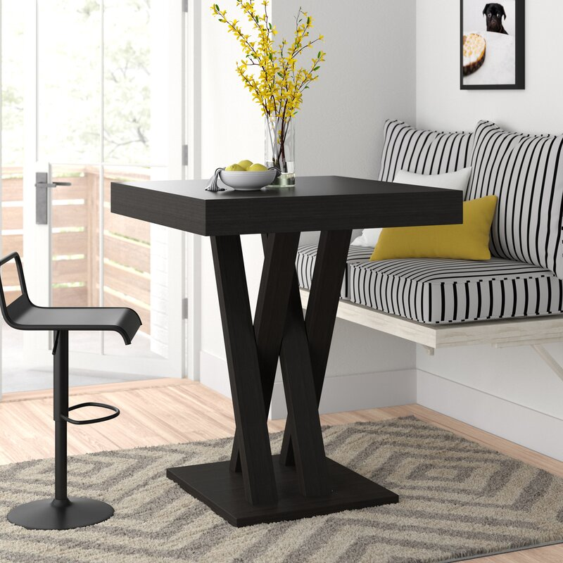 Hodder Bar Height Solid Wood Dining Table