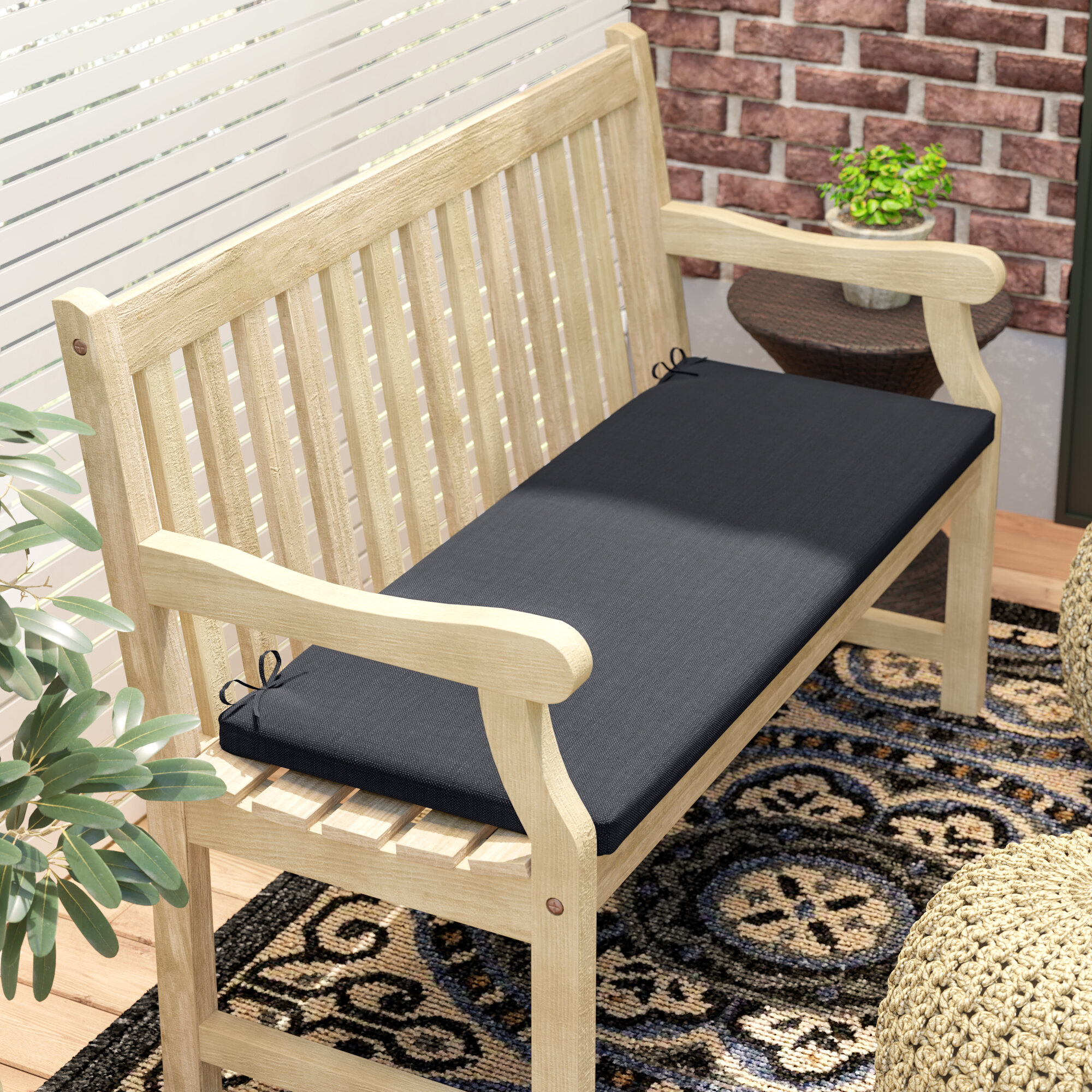 Darby Home Co Claiborne Indoor Outdoor Bench Cushion Reviews Wayfair