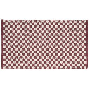 Paltrow Red/White Area Rug Mercer41