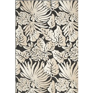 Vretsia Black/Beige Outdoor Area Rug