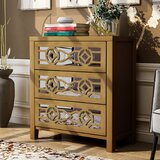 Sylvania 3 Drawer Mirrored Accent Chest by Mercer41