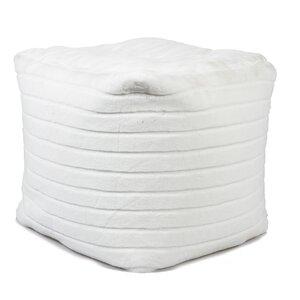 White Faux Fur Bean Bag Chair