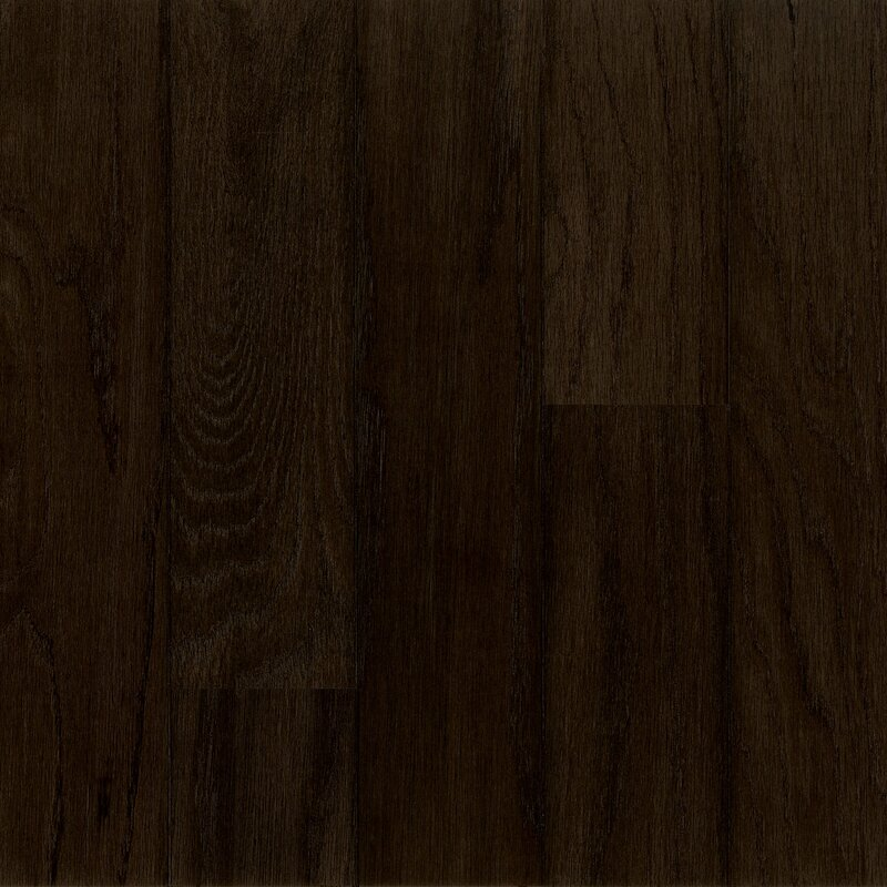"5"" Engineered White Oak Hardwood Flooring in Night Time"