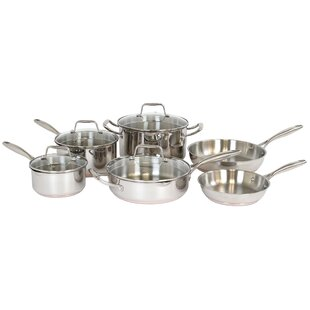Hallmark 10 Piece Stainless Steel Cookware Set