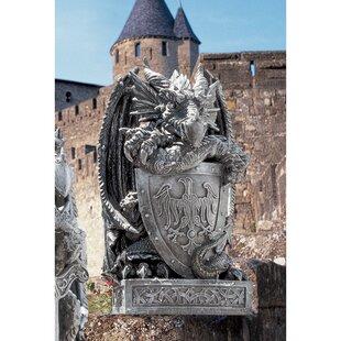 Shield The Arthurian Dragon Statue by Design Toscano