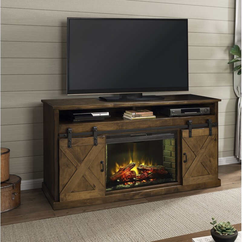 Loon Peak Pullman Tv Stand For Tvs Up To 65 With Electric Fireplace