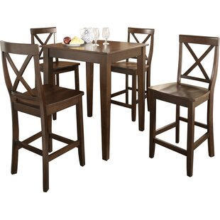 Haslingden 5 Piece Pub Table Set Three Posts