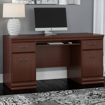 Charlton Home Mcfarlane Solid Wood Corner Desk Reviews Wayfair
