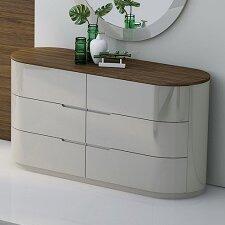 Lisa 6 Drawer Double Dresser with Mirror by Orren Ellis
