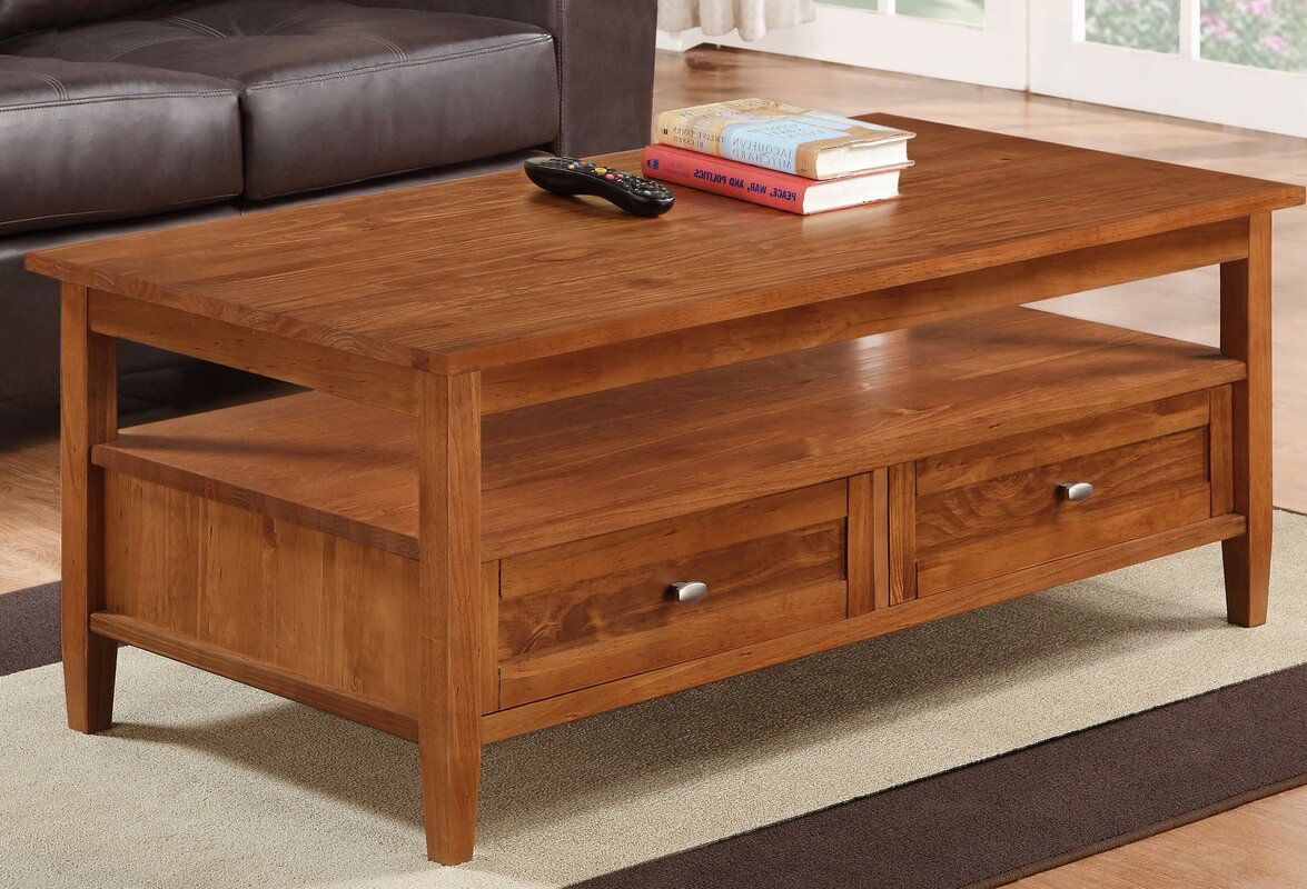Simpli Home Warm Shaker Coffee Table Reviews Wayfair