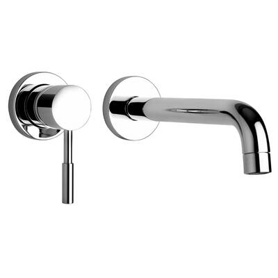 J16 Bath Series Two Hole Wall Mount Bathroom Faucet With Control And Spout