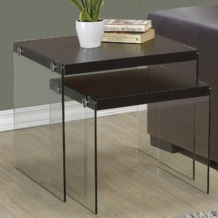 Great Price Two Piece Nesting Table Set By Monarch Specialties Inc.