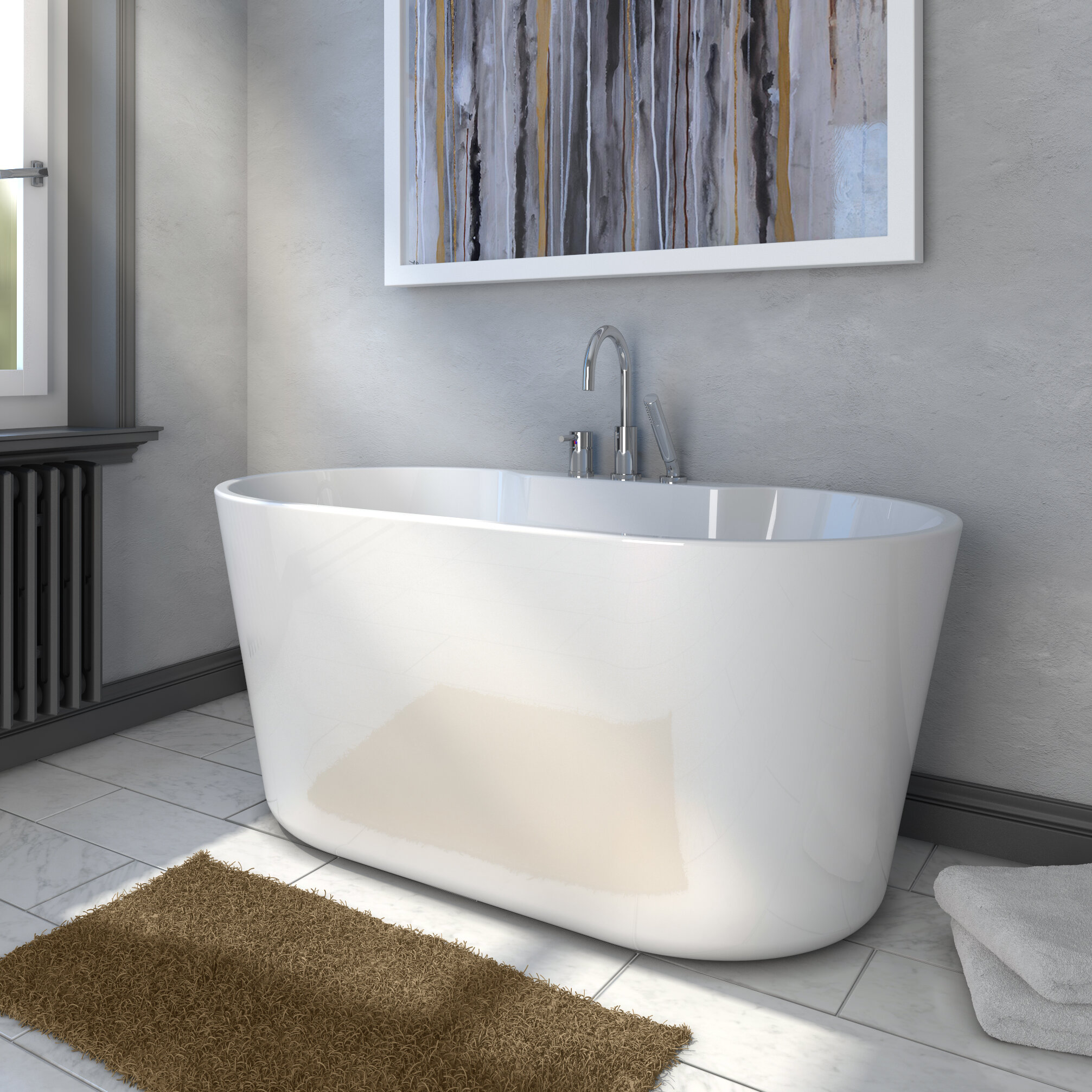 56 X 31 Freestanding Soaking Bathtub