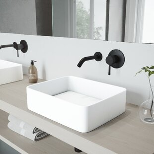 Reviews Jasmine Stone Rectangular Vessel Bathroom Sink with Faucet By VIGO