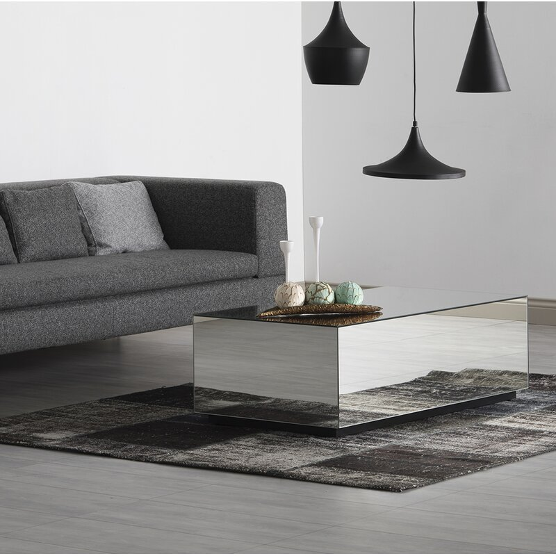 LED Lighted Coffee Table High Gloss Black  Lounge Living Or Dining Room