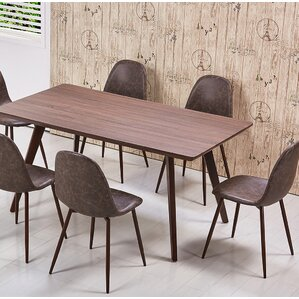 Mid Century 5 Piece Dining Set by BestMasterFurniture