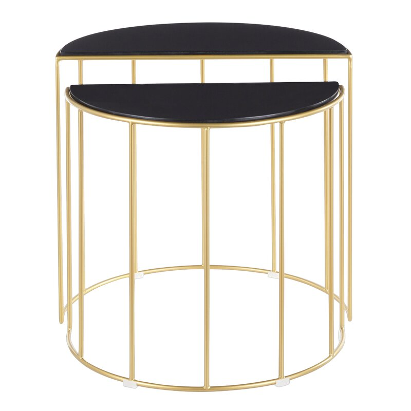 Everly Quinn  Lystra 2 Piece Nesting Tables