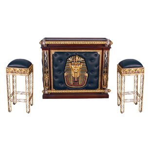 Egyptian Bar Set with Wine Storage