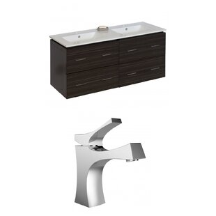 Kyra Modern 48 MultiLayer Stain Double Bathroom Vanity Set