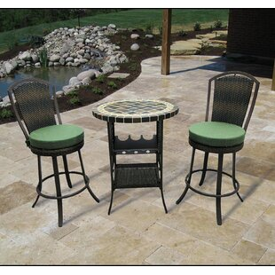Stoneham 3 Piece Bar Height Dining Set